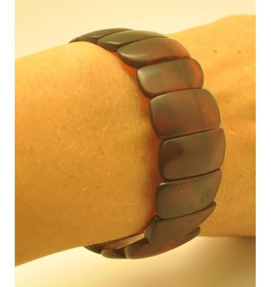 Cherry unpolished Baltic amber bracelet