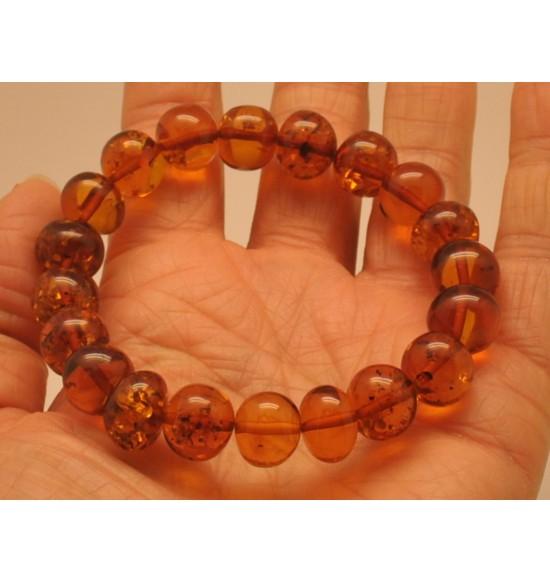 Baroque beads Baltic amber bracelet