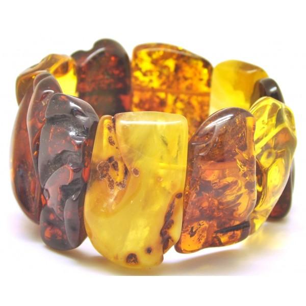 Amber bracelets | Natural shapes Baltic amber bracelet