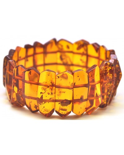 Faceted cognac Baltic amber bracelet
