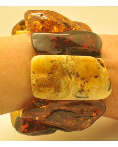 Natural shapes  Baltic amber bracelet 136 g.