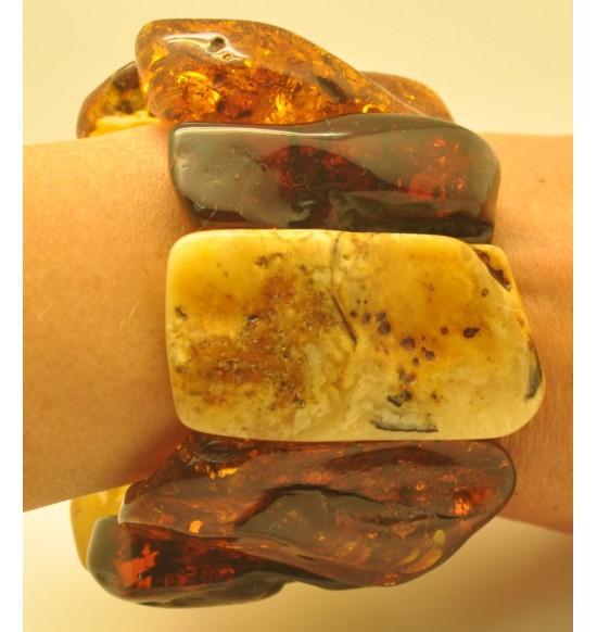 Natural shapes  Baltic amber bracelet 136 g.