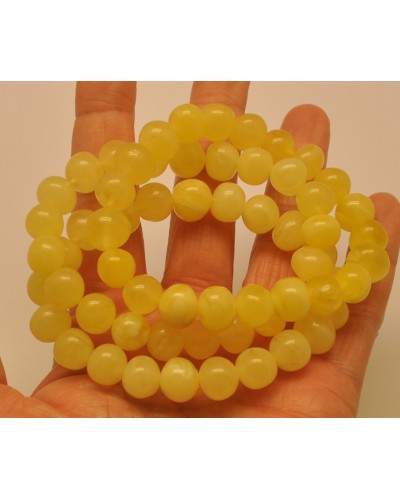 Lot of 3 yellow  baroque beads Baltic amber  bracelets