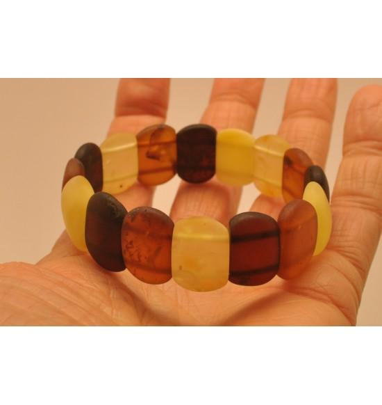 Classic unpolished Baltic amber bracelet