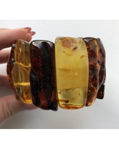 Natural shapes  amber bracelet