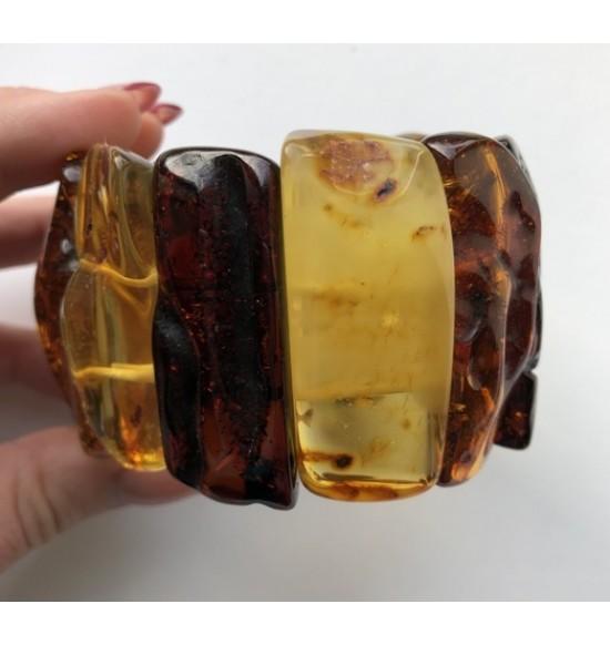 Natural shapes  amber bracelet
