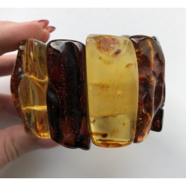 Amber bracelets | Natural shapes amber bracelet