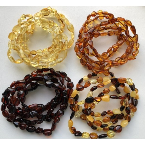 Amber bracelets | 20 Beans shape amber bracelets