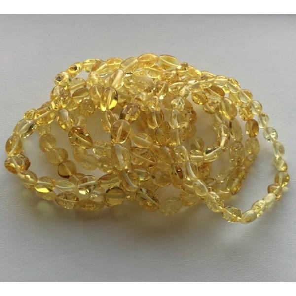 10 Lemon beans shape amber bracelets