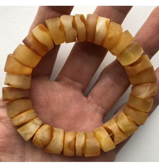 Natural raw amber bracelet