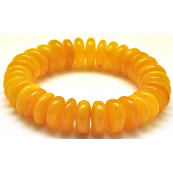 Antique Baltic amber elastic bracelet-AB2806