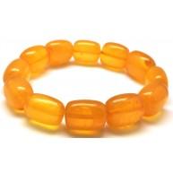 Antique barrel shape Baltic amber bracelet