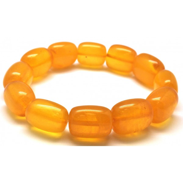 Antique barrel shape Baltic amber bracelet-AB2813