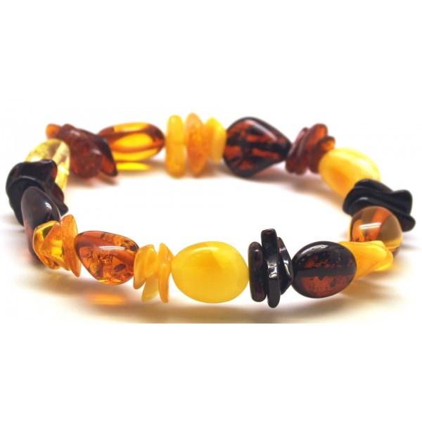 Baltic amber beans bracelet-AB2791