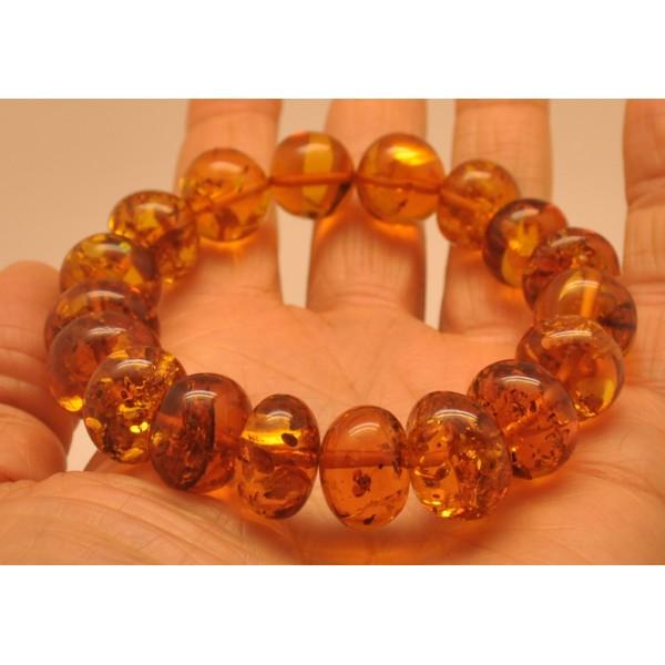 Baroque beads Baltic amber bracelet-AB2887