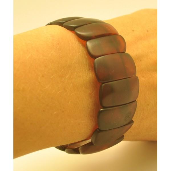 Cherry unpolished Baltic amber bracelet-AB2784