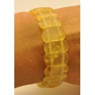 Classic transparent unpolished Baltic amber bracelet