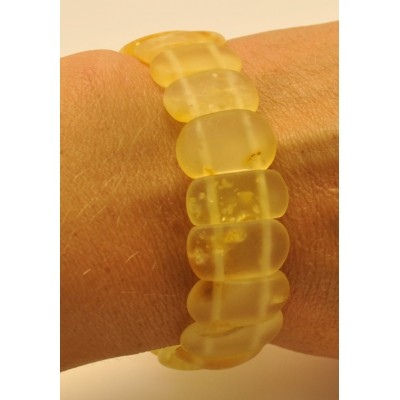Classic transparent unpolished Baltic amber bracelet