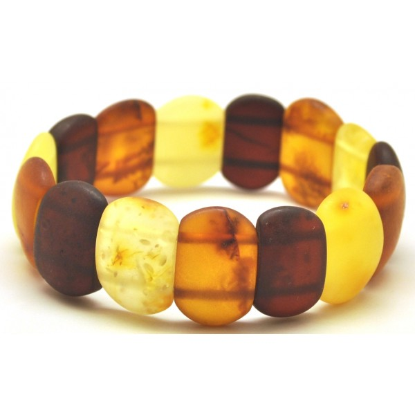 Classic unpolished Baltic amber bracelet-AB2798
