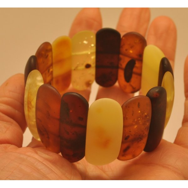 Classic unpolished Baltic amber bracelet-AB2842
