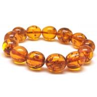 Cognac olive shape Baltic amber bracelet