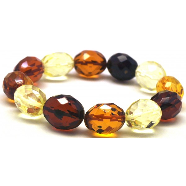 Faceted Baltic amber bracelet-AB2812