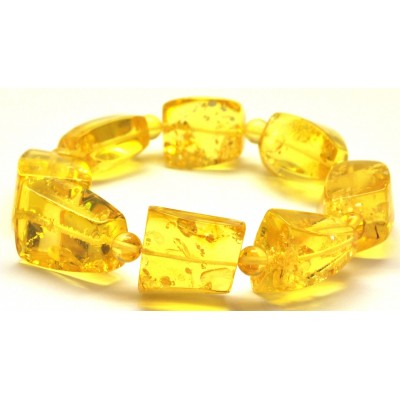 Faceted beads Baltic amber bracelet-AB2851