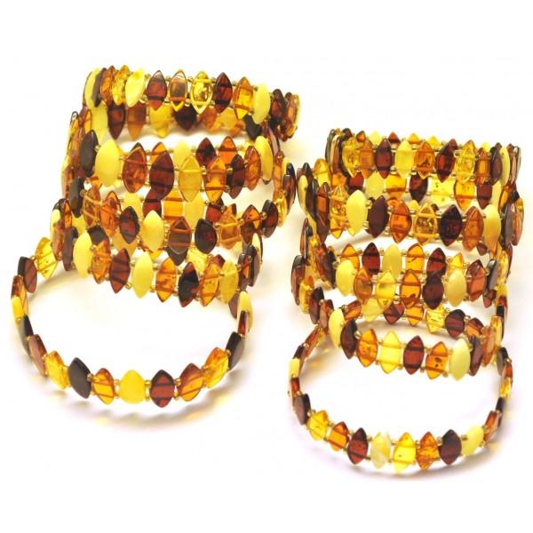 Lot of 10 elastic amber bracelets-AB2844