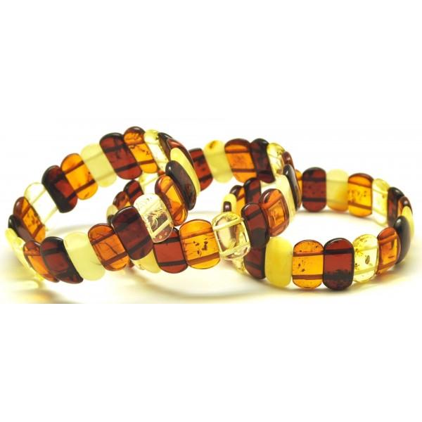 Lot of 3 classic Baltic amber bracelets-AB2817