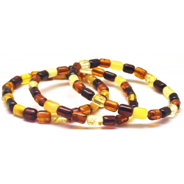 Lot of 3 greek style Baltic amber bracelets-AB2893