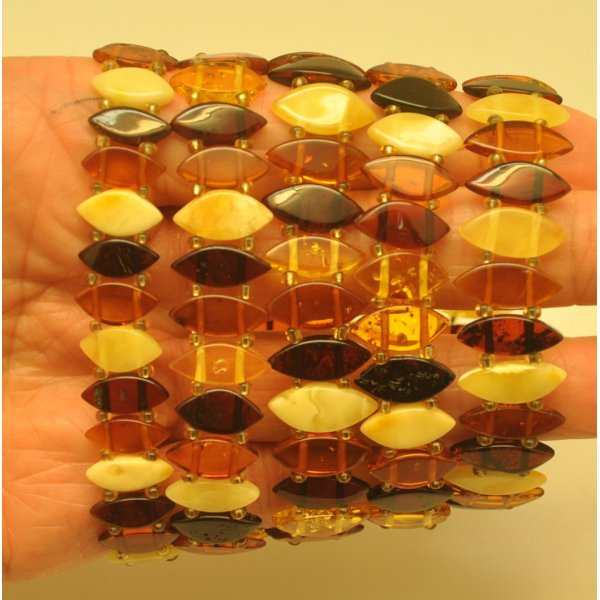 Lot of 5 elastic amber bracelets-AB2843