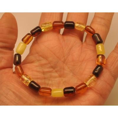 Multicolor greek style Baltic amber bracelet