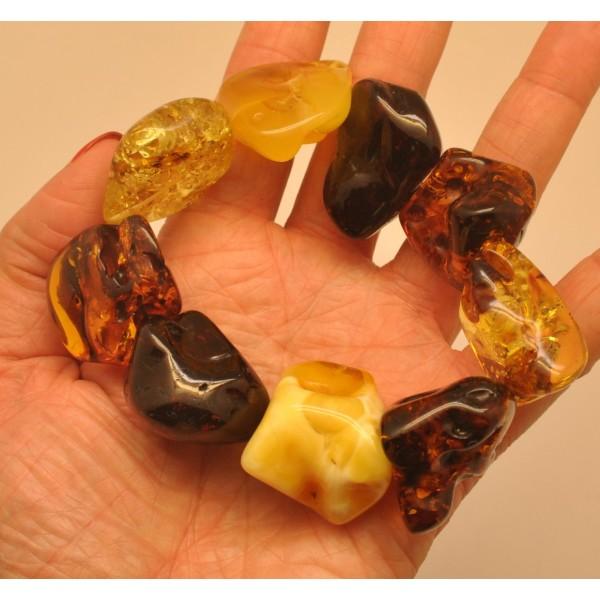 Natural shapes Baltic amber bracelet-AB2797