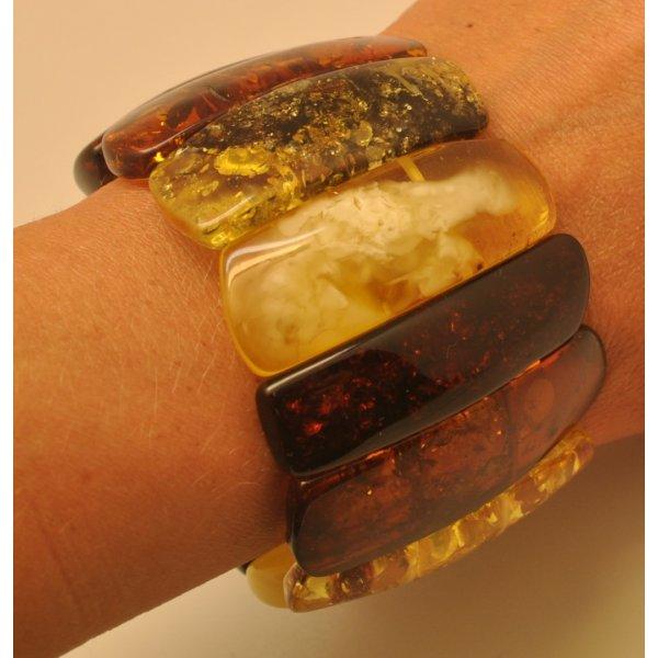 Natural shapes Baltic amber bracelet -AB2828