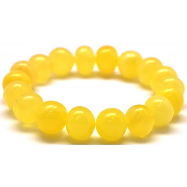 Natural yellow baroque beads amber bracelet-AB2901
