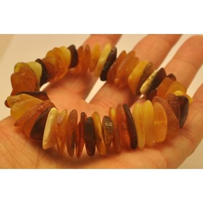 Raw Baltic amber bracelet-AB2790