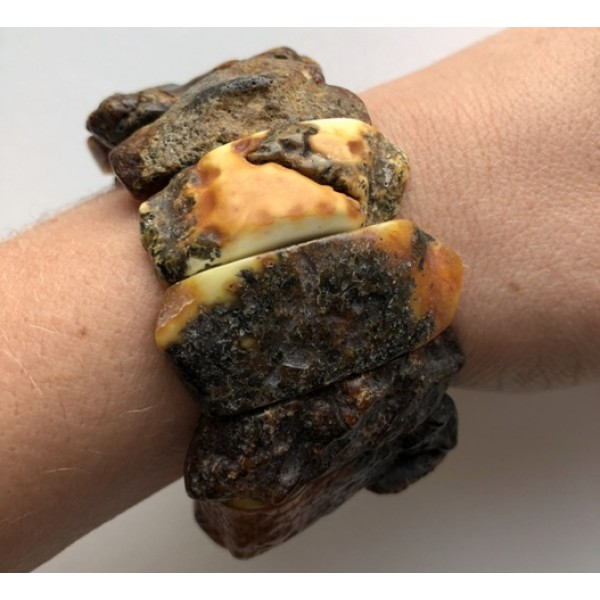 Raw healing Baltic amber bracelet-AB2876