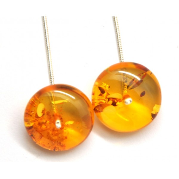 Amber Earrings Long Baltic