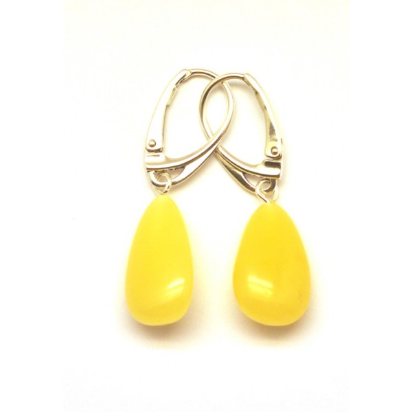 Amber earrings | Drop shape amber earrings
