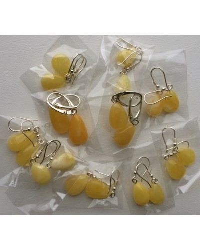 10 Pairs drop shape amber earrings