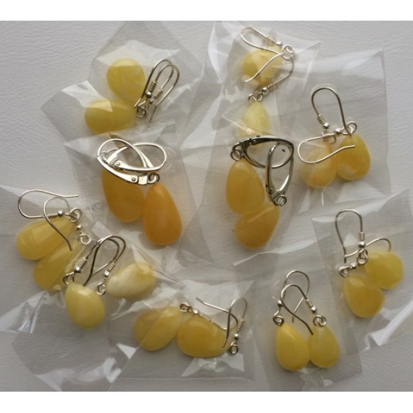 Amber earrings | 10 Pairs drop shape amber earrings