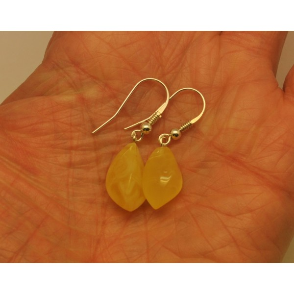 Amber earrings | Natural faceted Baltic amber earrings