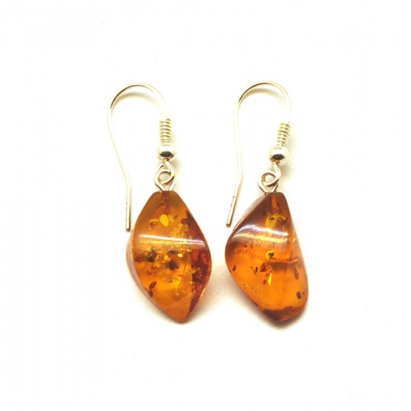 Amber earrings | Cognac faceted Baltic amber earrings