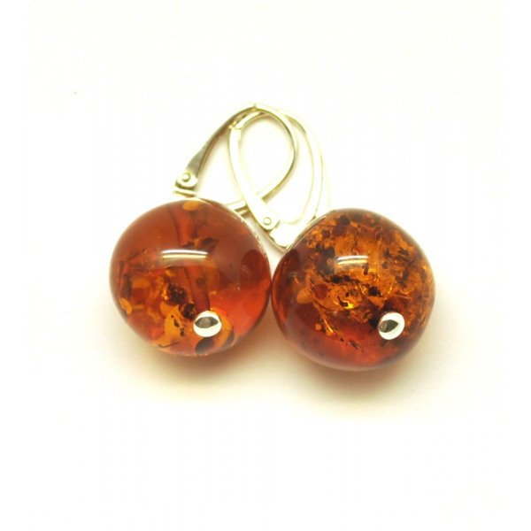 Baroque beads Baltic amber earrings-AE0203