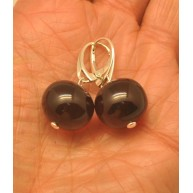 Baroque beads Baltic amber earrings-AE0299