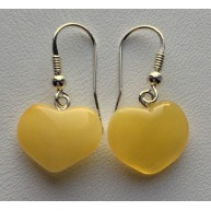Heart shape Baltic amber earrings