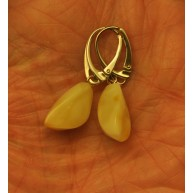 Natural faceted Baltic amber earrings