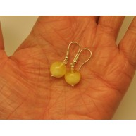Natural round  Baltic amber earrings
