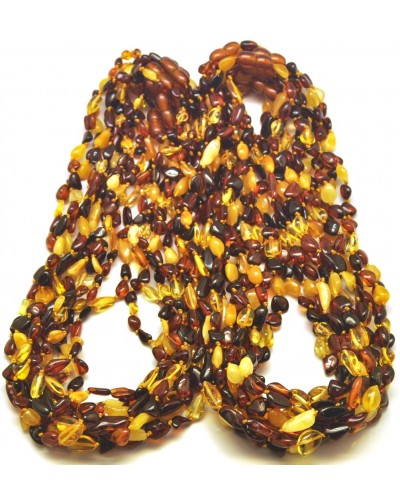 Lot of 20 Baltic amber beans necklaces