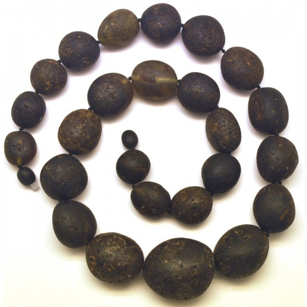 Amber necklaces | Big beads raw healing Baltic amber necklace